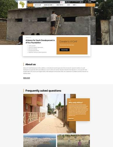 AYDAF website developed by DreamSite Gurus